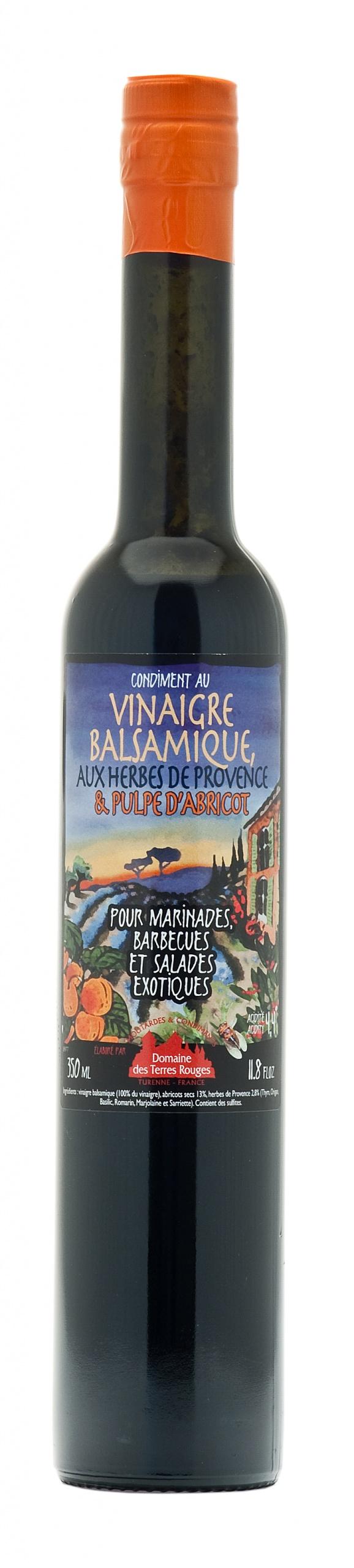 Vinaigre Balsamique aux Herbes de Provence et Pulpe d'Abricot