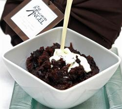 Rich Chocolate & Ginger Christmas Pudding by The Carved Angel