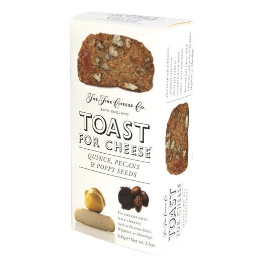 Toasts for Cheese: Quince, Pecan and Poppy Seeds