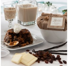 Irish Whisky & White Chocolate Christmas Pudding by The Carved Angel